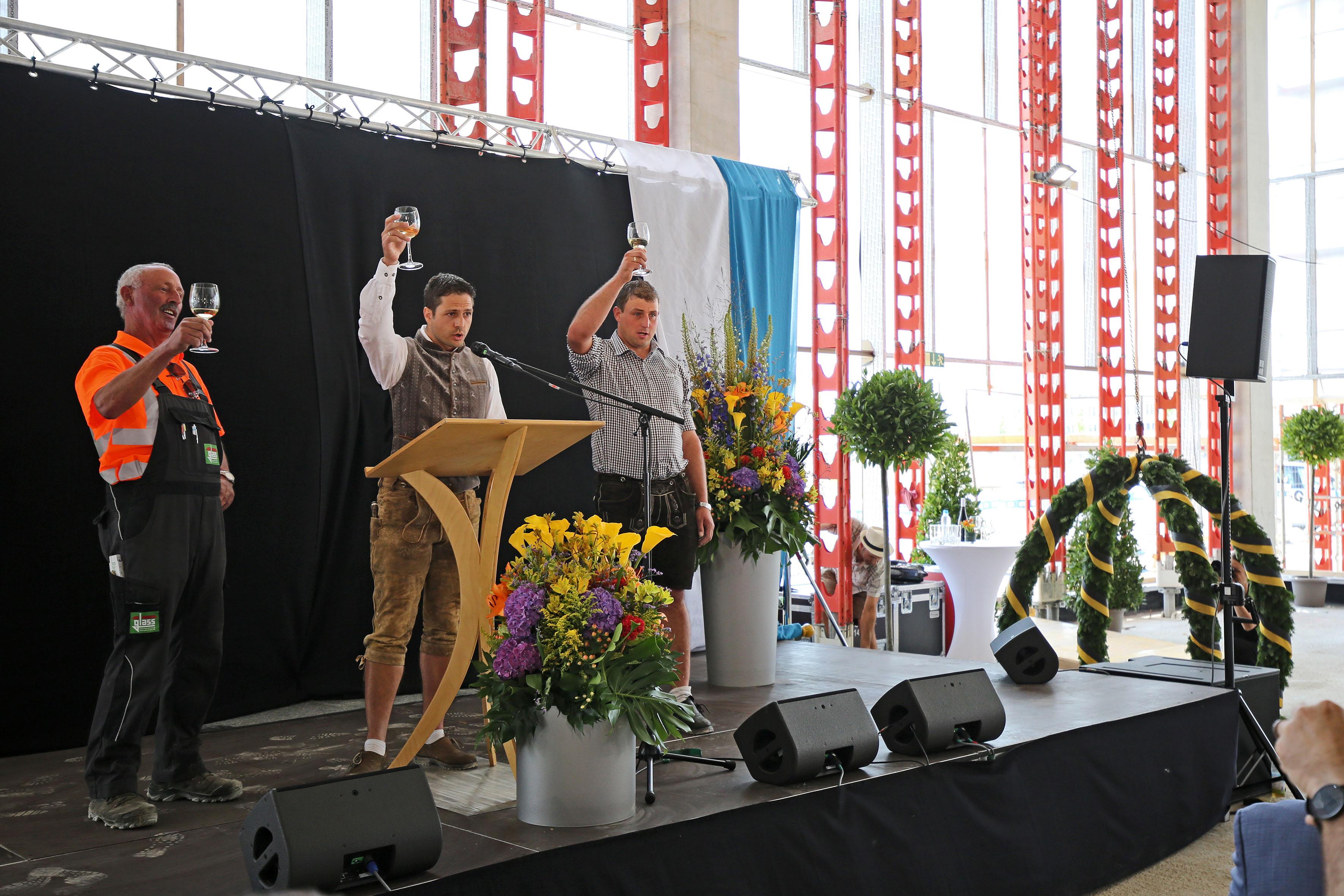 Richtfest für den Bildungscampus Freiham, Foto: Michael Nagy