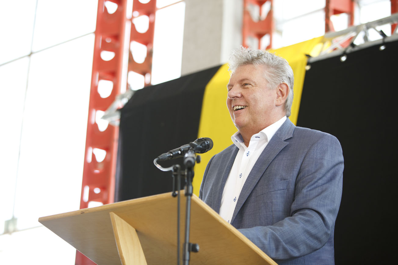 OB Dieter Reiter spricht beim Richtfest für den Bildungscampus Freiham, Foto: Christoph Mukherjee