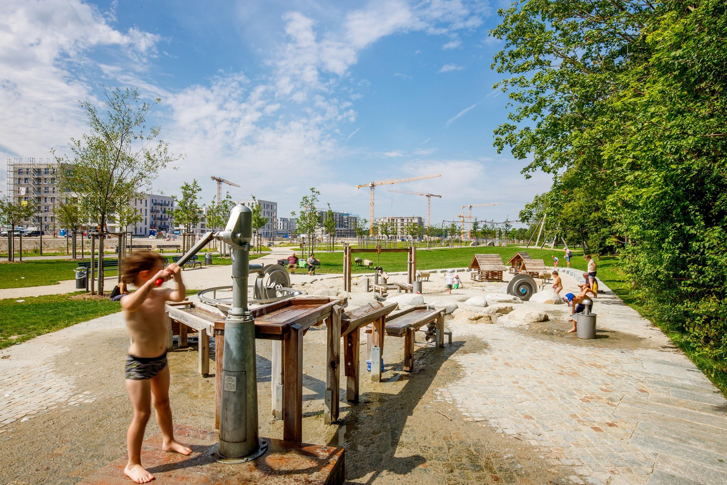 Wasserspielplatz für Kleinkinder