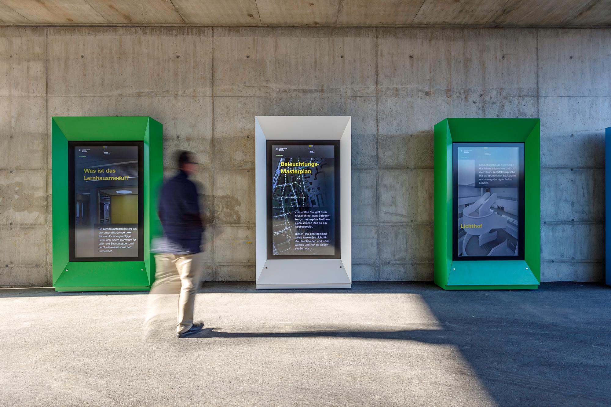 Digitaler Infopoint des Baureferats, Foto: Peter Schinzler